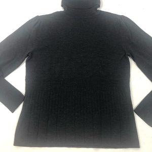 Pendleton Gray Wool Ribbed Turtleneck